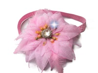 "Glitter Girl 5"" Flower Headband with Bling!"