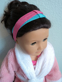 AMERICAN GIRL DOLL size - Stretchy Interchangeable Headbands - SELECT A COLOR