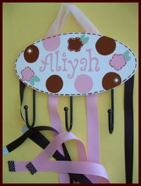 HeadBand + Bows Holder - Aliyah - Flower Stitch