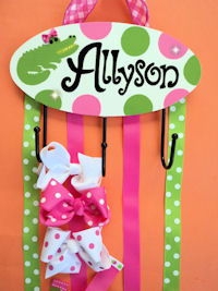HeadBand + Bows Holder - Alligator Alley