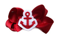Funky Bows - Anchors Away - Red