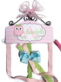 Hair Bow Holder - Owl - Annabelle Style