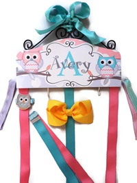 Hair Bow Holder - Owl - Avery Style