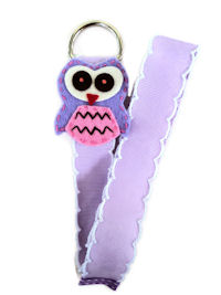 Owl Simple Bow Holder - Lavender