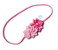 Flower Bling Headband - 2 Shades of Pink