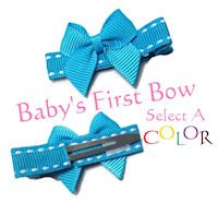 Baby's First Traditional Hair Bow - Select a Color