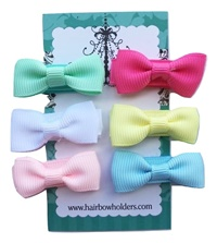 Infant Hair Pretties - Set of 6 - Traditional Bow-Tie Bows