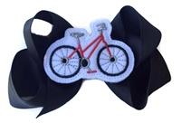 Bicycle Hair Bow - Black