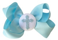 Funky Bows - Blue Cross Bow