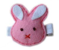 FELT CLIP - Bunny Hush (white ears)