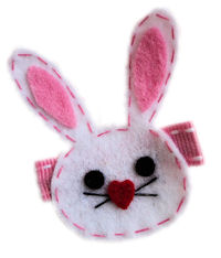 FELT CLIP - Bunny with Heart Nose