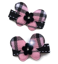 Butterfly Burberry Hair Clips - Set of 2