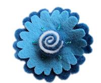 FELT CLIP - Candy Swirl - Blue