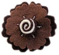 FELT CLIP - Candy Swirl - Brown