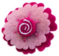 FELT CLIP - Candy Swirl - Pink