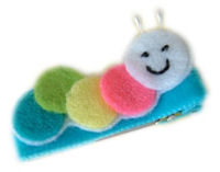 FELT CLIP - Caterpillar - Colorful