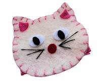 FELT CLIP - Cecilia the Cat - Ivory