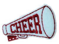 FELT CLIP - CHEER! - Red