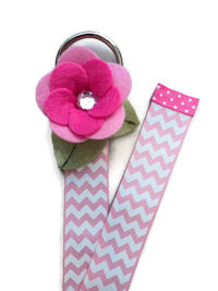 Chevron Simple Bow Holder - Pink