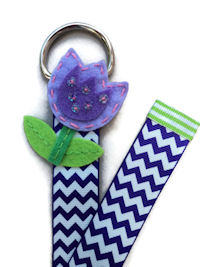 Chevron Simple Bow Holder - Purple