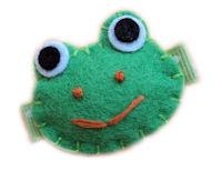 "FELT CLIP - Frog ""Chloe"""