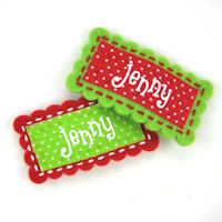 Felt Name Snap Clip - Christmas Colors - select a color