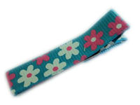 Cool Clips - Flowers - Pink White on Blue