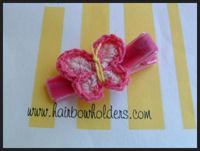 Crochet Butterfly - Hot Pink