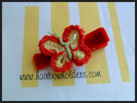 Crochet Butterfly - Red