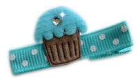 Cupcake Bling - Turquoise Frosting with Bling!