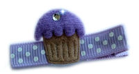 Cupcake Bling - Purple Frosting with Bling!