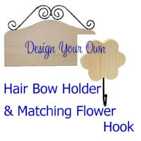 DESIGN YOUR OWN - Hair Bow Holder and FLOWER HOOK COMBO
