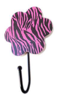 Flower Hook - Funky Pattern - U FINISH it up! - Zebra Hot Pink