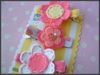 FELT CLIPS - Daisy Power Pack - Pink