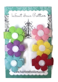Infant Hair Pretties - Set of 6 - Daisies Solid
