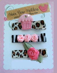 Diva Hair Clips - SET of 3 - Animal Prints