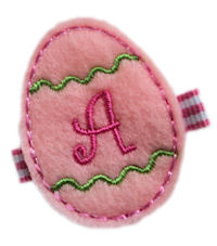 Inventory Sale - FELT CLIP - Easter Egg - Pink Monogram