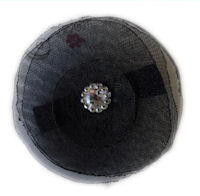 Elegant Blossom Hair Clip - Black