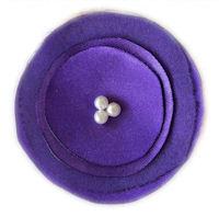 Elegant Blossom Hair Clip - Purple
