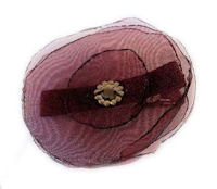 Elegant Blossom Hair Clip - Red Wine