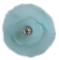 Elegant Blossom Hair Clip - Tiffany Blue