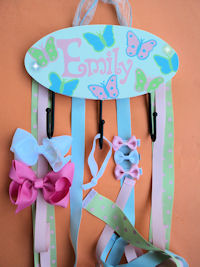 HeadBand + Bows Holder - Emily with All Butterflies