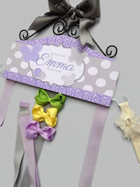 Emma Collection - Butterflies - Swirls Dots Chevron - Gray and Lavender