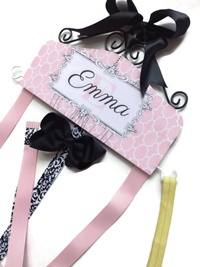Emma Collection - Moroccan Style - Pink and Black