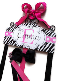Hair Bow Holder - Animal Print - Zebra