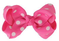 Basic Bows - Everyday Hot Pink with Dots