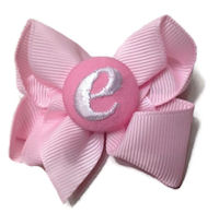 Basic Bows - MONOGRAM MINI - Everyday Pink and White