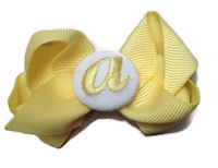 Basic Bows - MONOGRAM MINI - Everyday Yellow and White