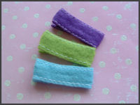 Plain Clips - Wide Felt with stitch - SELECT A COLOR