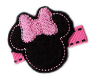 FELT CLIP - Minnie - On Hot Pink Stitch